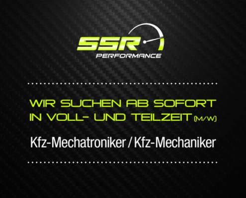 Kfz Mechatroniker und Kfz Mechaniker Stellenausschreibung – SSR Performance