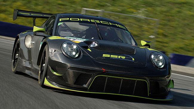 Porsche GT3R Fahrzeug Rennsport/Racing auf Rennstrecke – SSR Performance
